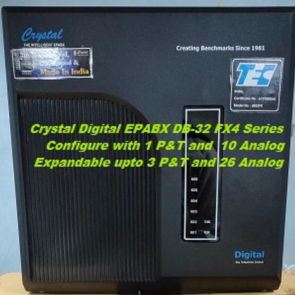 CRYSTAL DIGITAL EPABX DB-32 FX4 -1 P&T AND 10 ANALOG