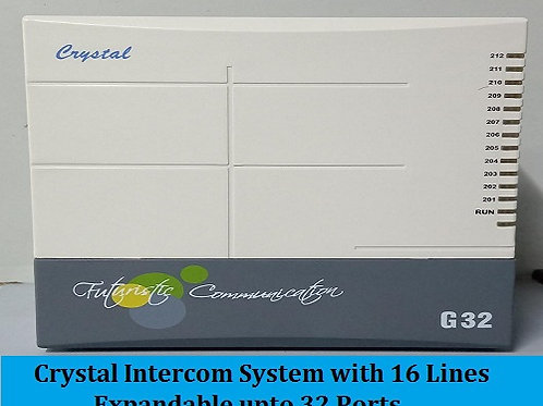 Crystal G-32 Series Intercom System with 16 Lines