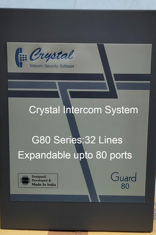 CRYSTAL G80 SERIES INTERCOM SYSTEM- 32 Lines
