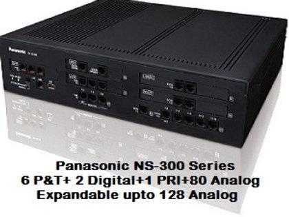 Panasonic KX-NS300 Hybrid IP-PBX System with 80 Analog + 1 PRI