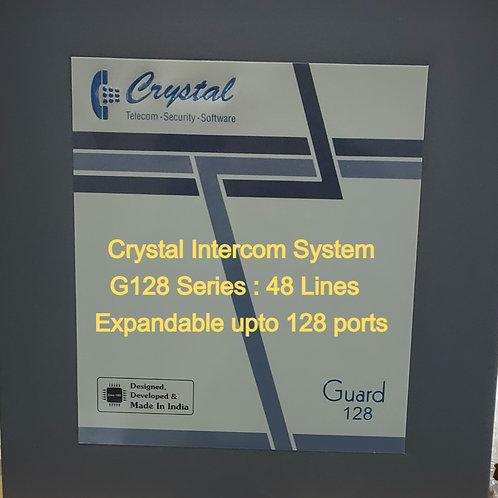 CRYSTAL G128 SERIES INTERCOM SYSTEM- 48 Lines