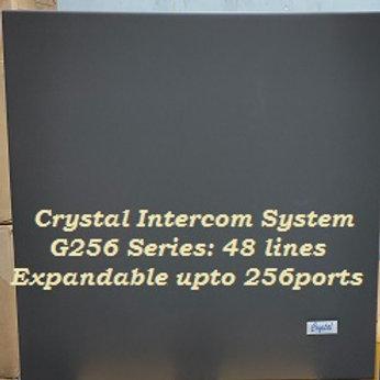 CRYSTAL G256 SERIES INTERCOM SYSTEM-48 Lines