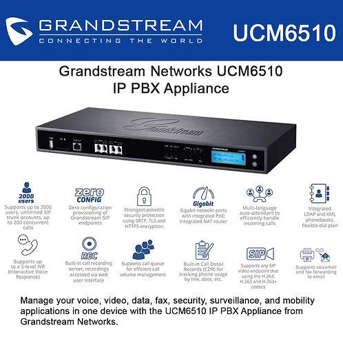 GRANDSTEAM-UCM6510( 2 FXO, 2 FXS, 2 GigE, E1/T1,2000 User)