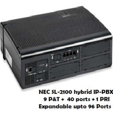 NEC SL-2100 Hybrid EPABX System 9 P&T +40 Ports