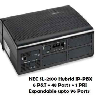 NEC SL-2100 Hybrid EPABX System 6 P&T + 48 Ports