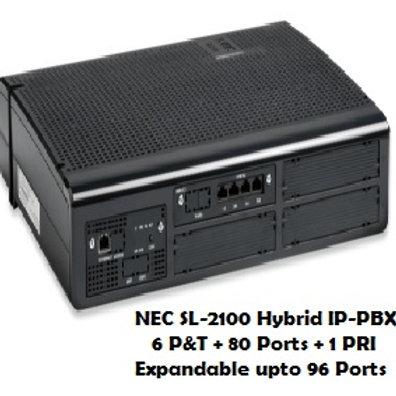 NEC SL-2100 Hybrid EPABX System 6 P&T + 80 Ports