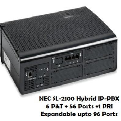 NEC SL-2100 Hybrid EPABX System 6 P&T + 56 Ports
