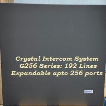 CRYSTAL G256 SERIES INTERCOM SYSTEM-192 Lines