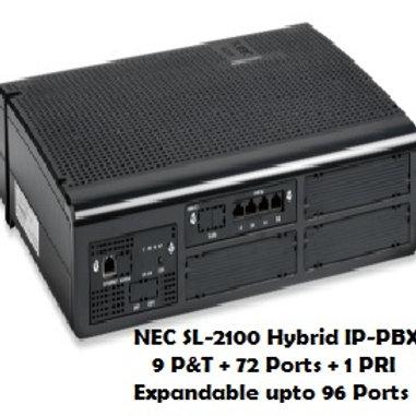 NEC SL-2100 Hybrid EPABX System 9P&T + 72 Ports