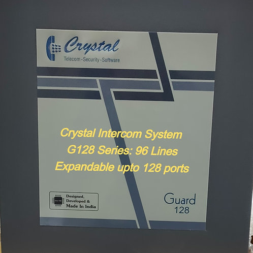 CRYSTAL G128 SERIES INTERCOM SYSTEM-96 Lines