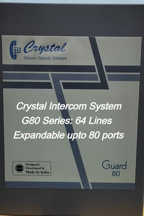 CRYSTAL G80 SERIES INTERCOM SYSTEM- 64 Lines