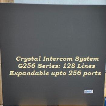 CRYSTAL G256 SERIES INTERCOM SYSTEM -128 Lines