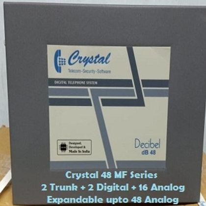 CRYSTAL DIGITAL EPABX MF-48 : 2 TRUNK -2 DIGITAL - 16 ANALOG