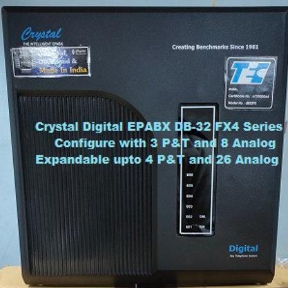 CRYSTAL DIGITAL EPABX DB-32 FX4 -3 P&T AND 8 ANALOG