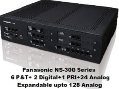 Panasonic KX-NS300 Hybrid IP-PBX System with 24 Analog +1 PRI