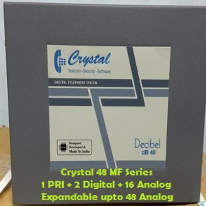 CRYSTAL DIGITAL EPABX MF-48 : 1 PRI -2 DIGITAL -16 ANALOG