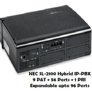 NEC SL-2100 Hybrid EPABX System 9 P&T +  56 Ports