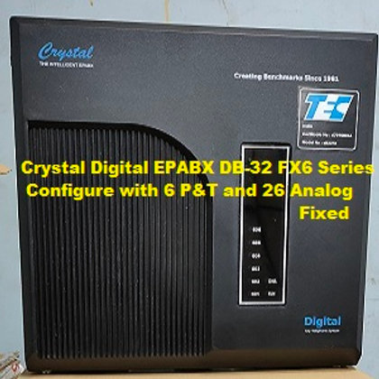 CRYSTAL DIGITAL EPABX DB-32 FX6 -6 P&T AND 26 ANALOG