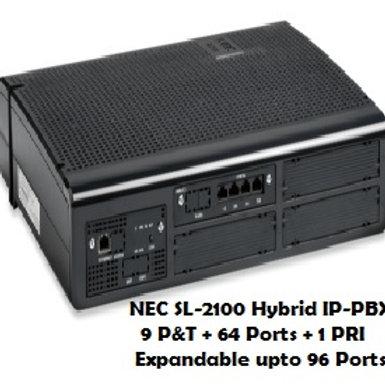 NEC SL-2100 Hybrid EPABX System 9 P&T + 64 Ports