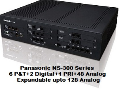 Panasonic KX-NS300 Hybrid IP-PBX System with 48 Analog + 1 PRI