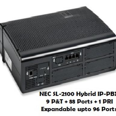 NEC SL-2100 Hybrid EPABX System 9P&T +  88 Ports
