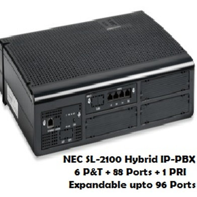 NEC SL-2100 Hybrid EPABX System  6 P&T + 88 Ports