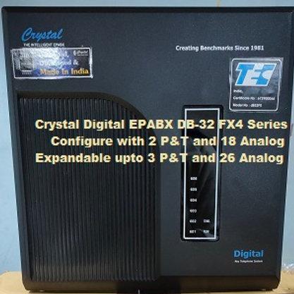 CRYSTAL DIGITAL EPABX DB-32 FX4-2 P&T AND 18 ANALOG