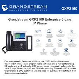 GRANDSTEAM-GXP2160(6 Lines, 6 SIP Accounts, PoE + GigE,)