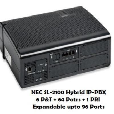 NEC SL-2100 Hybrid EPABX System 6 P&T +64 Ports