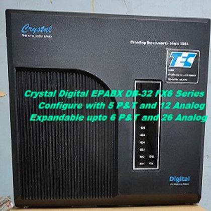 CRYSTAL DIGITAL EPABX DB-32 FX6 Series -5 P&T AND 12 ANALOG