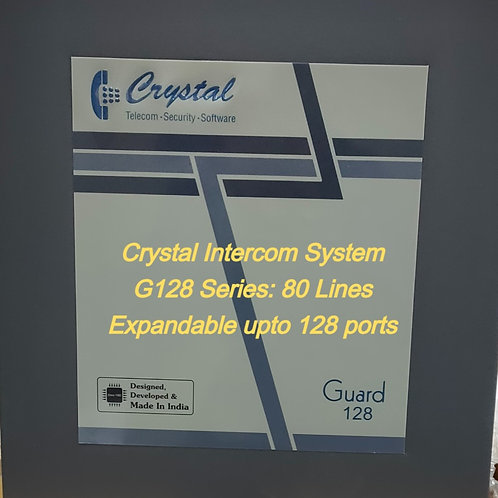 CRYSTAL G128 SERIES INTERCOM SYSTEM- 80 Lines
