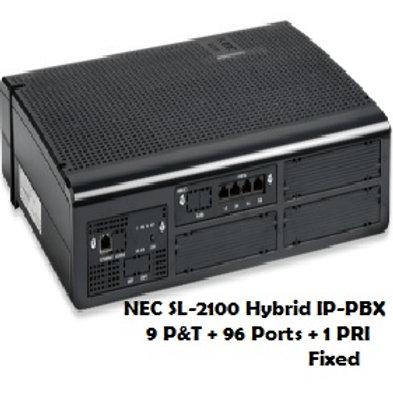 NEC SL-2100 Hybrid EPABX System 9 P&T + 96 Ports