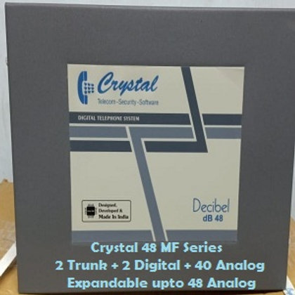 CRYSTAL DIGITAL EPABX MF-48 : 2 TRUNK -2 DIGITAL - 40 ANALOG