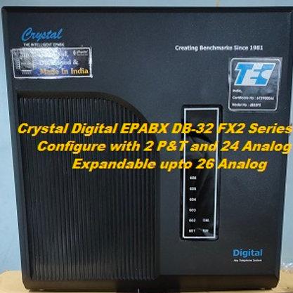 CRYSTAL DIGITAL EPABX DB-32 FX2-2 P&T AND 24 ANALOG