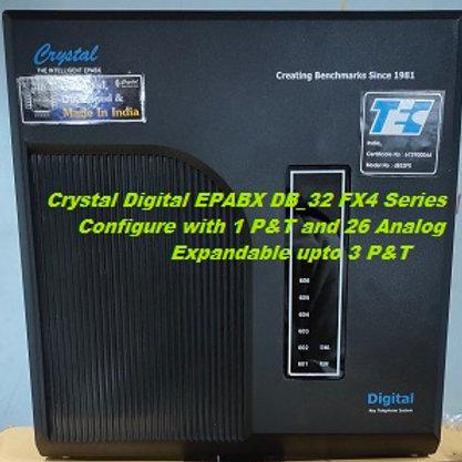 CRYSTAL DIGITAL EPABX DB-32 FX4 -1 P&T AND 26 ANALOG