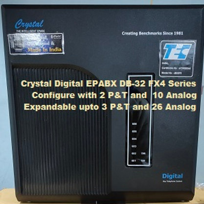 CRYSTAL DIGITAL EPABX DB-32 FX4-2 P&T AND 10 ANALOG
