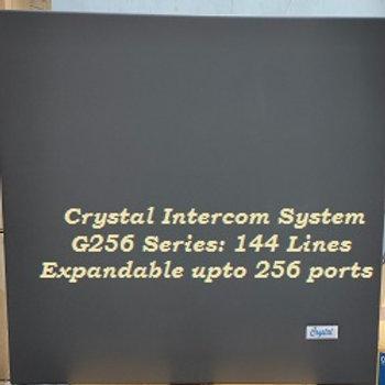 CRYSTAL G256 SERIES INTERCOM SYSTEM- 144 Lines