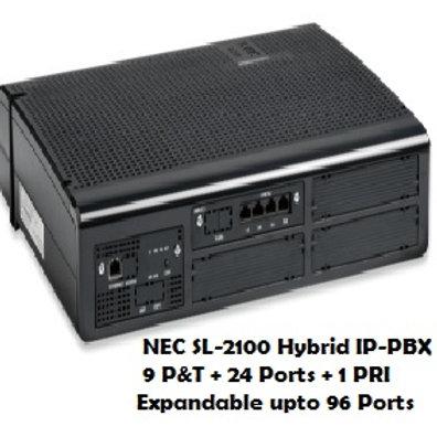 NEC SL-2100 Hybrid EPABX System 9 P&T + 24 Ports