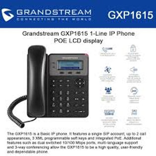 GRANDSTEAM-GXP1615(1 Line, 1 SIP Account, PoE)
