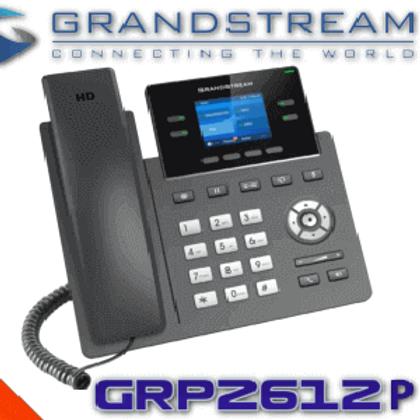 GRP2612P(4 Line,2 SIP Accounts,2.4 inm scrn,PoE color)