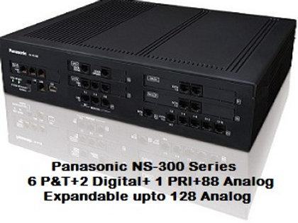 Panasonic KX-NS300 Hybrid IP-PBX System with 88 Analog + 1 PRI