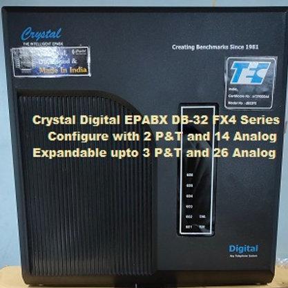 CRYSTAL DIGITAL EPABX DB-32 FX4-2 P&T AND 14 ANALOG
