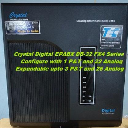 CRYSTAL DIGITAL EPABX DB-32 FX4 -1 P&T AND 22 ANALOG