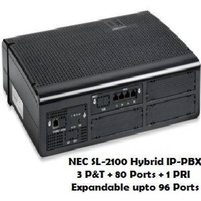 NEC SL-2100 Hybrid EPABX System 80 Ports