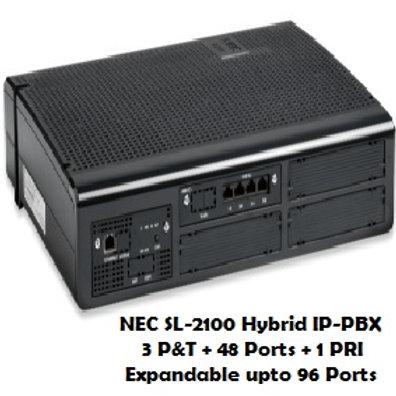 NEC SL-2100 Hybrid EPABX System 48 Ports