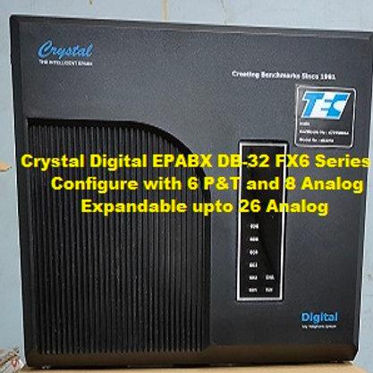 CRYSTAL DIGITAL EPABX DB-32 FX6 -6 P&T AND 8 ANALOG