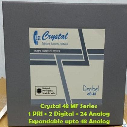 CRYSTAL DIGITAL EPABX MF-48 : 1 PRI -2 DIGITAL - 24 ANALOG