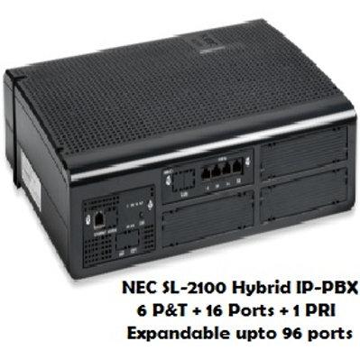 NEC SL-2100 Hybrid EPABX System - 6 P&T+16 Ports