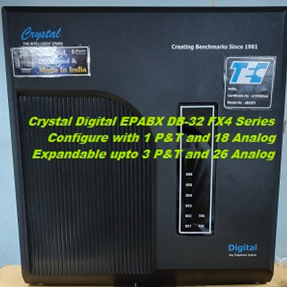 CRYSTAL DIGITAL EPABX DB-32 FX4 -1 P&T AND 18 ANALOG