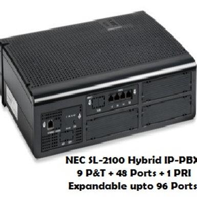 NEC SL-2100 Hybrid EPABX System 9 P&T +48 Ports